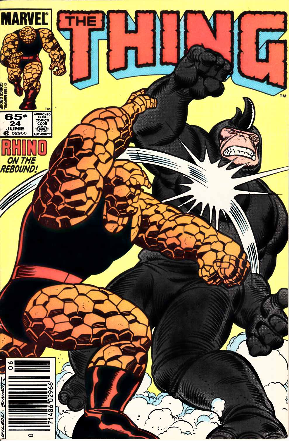 The Thing #24 Newsstand Edition Very Good (4.0) [Marvel Comic]