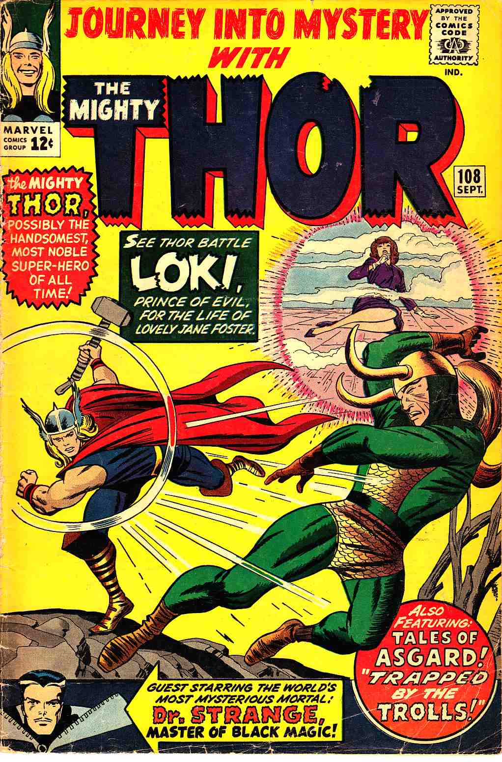 Journey Into Mystery Thor #108 Fine Minus (5.5) [Marvel Comic] THUMBNAIL