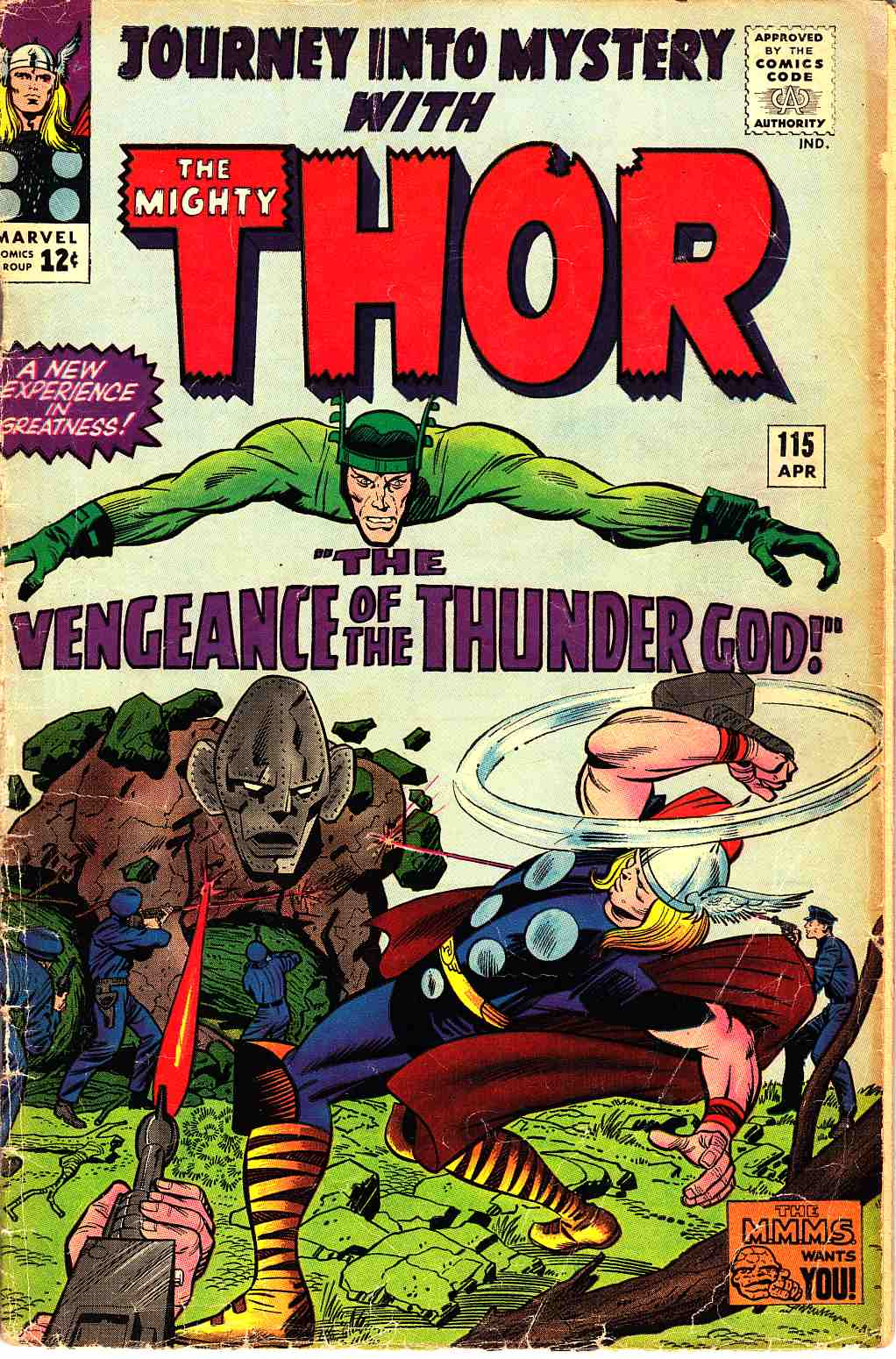 Journey Into Mystery Thor #115 Very Good Minus (3.5) [Marvel Comic] THUMBNAIL