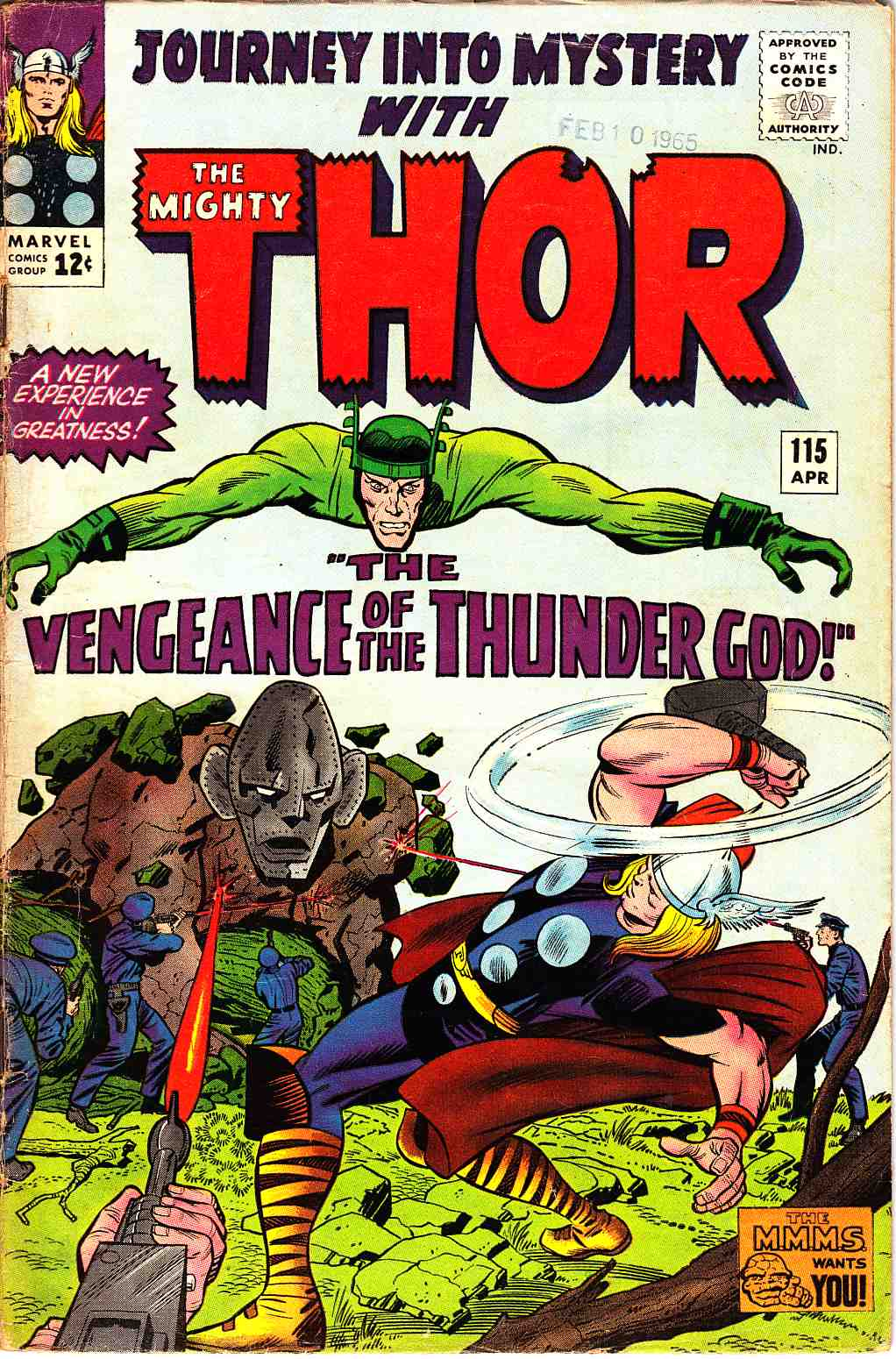 Journey Into Mystery Thor #115 Very Good (4.0) [Marvel Comic] THUMBNAIL