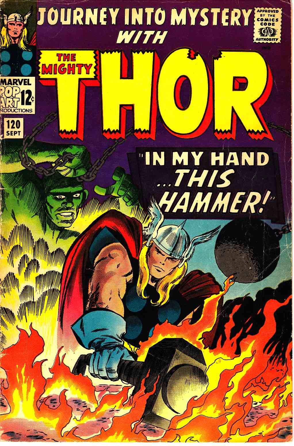 Journey Into Mystery Thor #120 Good Plus (2.5) [Marvel Comic] THUMBNAIL