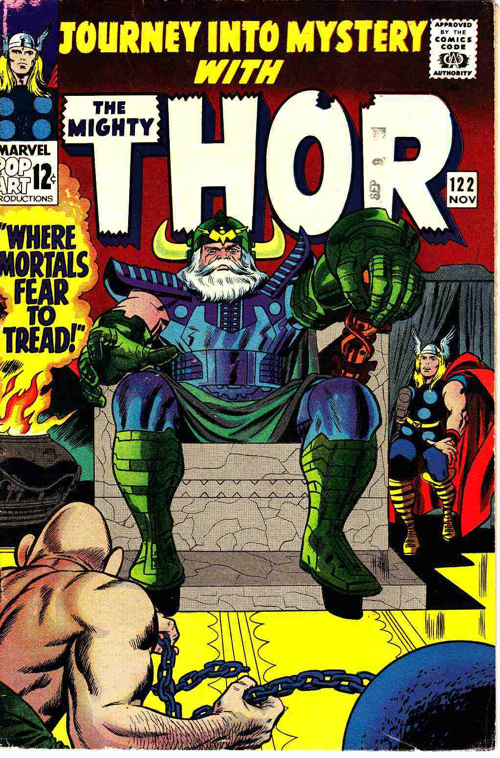Journey Into Mystery Thor #122 Fine Minus (5.5) [Marvel Comic] THUMBNAIL