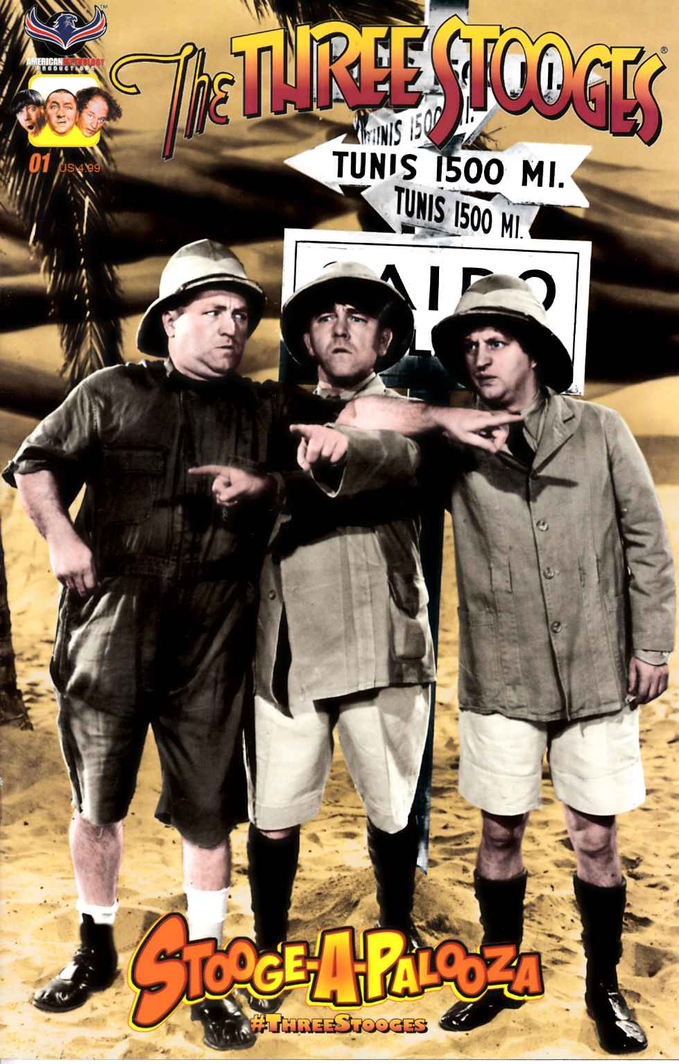 Three Stooges Stoogeapalooza Photo Cover [American Mythology Comic] THUMBNAIL