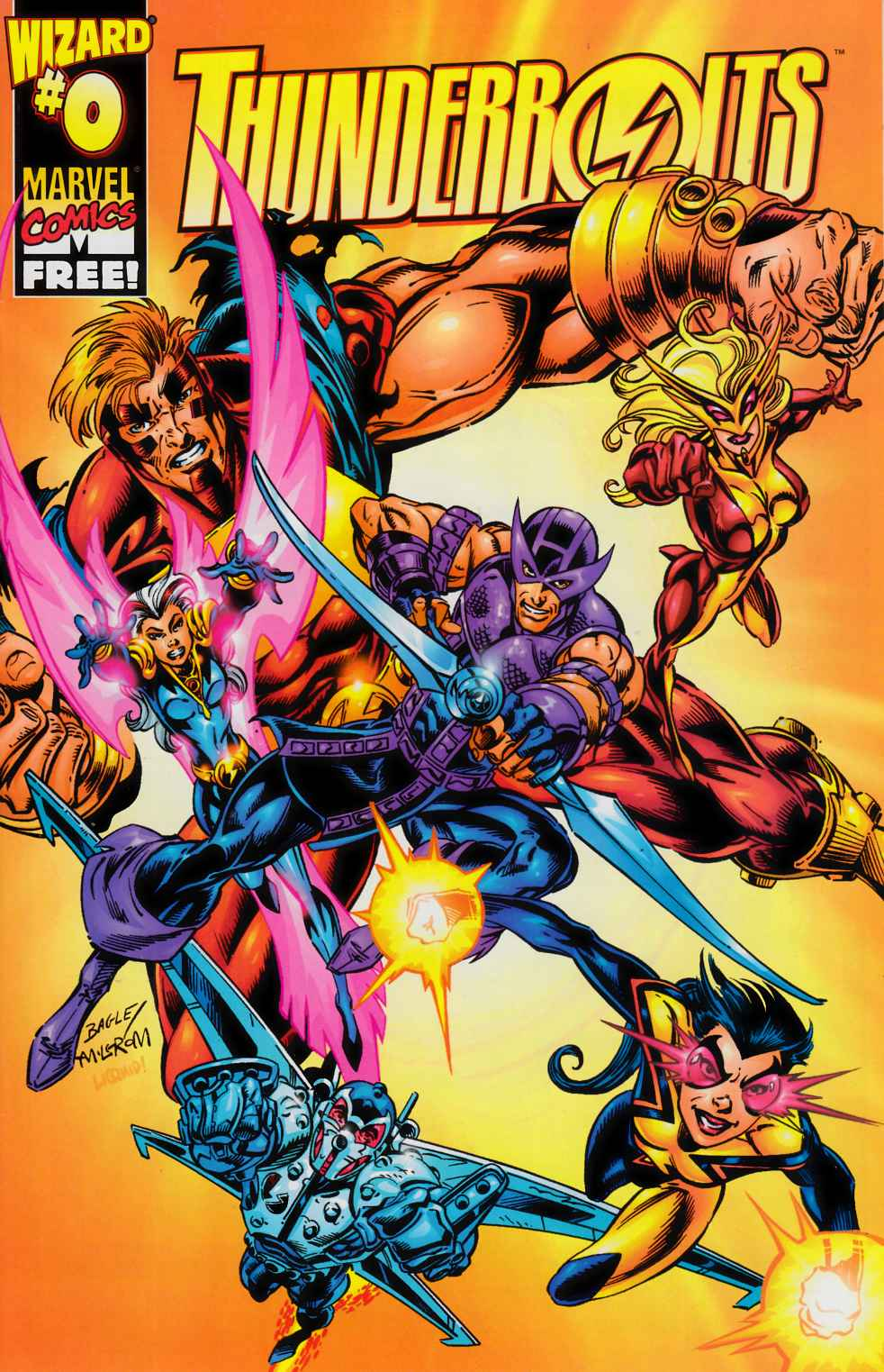 Thunderbolts #0 Wizard Exclusive- Near Mint (9.4) [Marvel Comic] THUMBNAIL