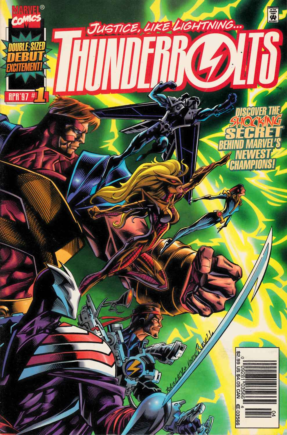 Thunderbolts #1 Newsstand Edition Very Fine Plus (8.5) [Marvel Comic] THUMBNAIL