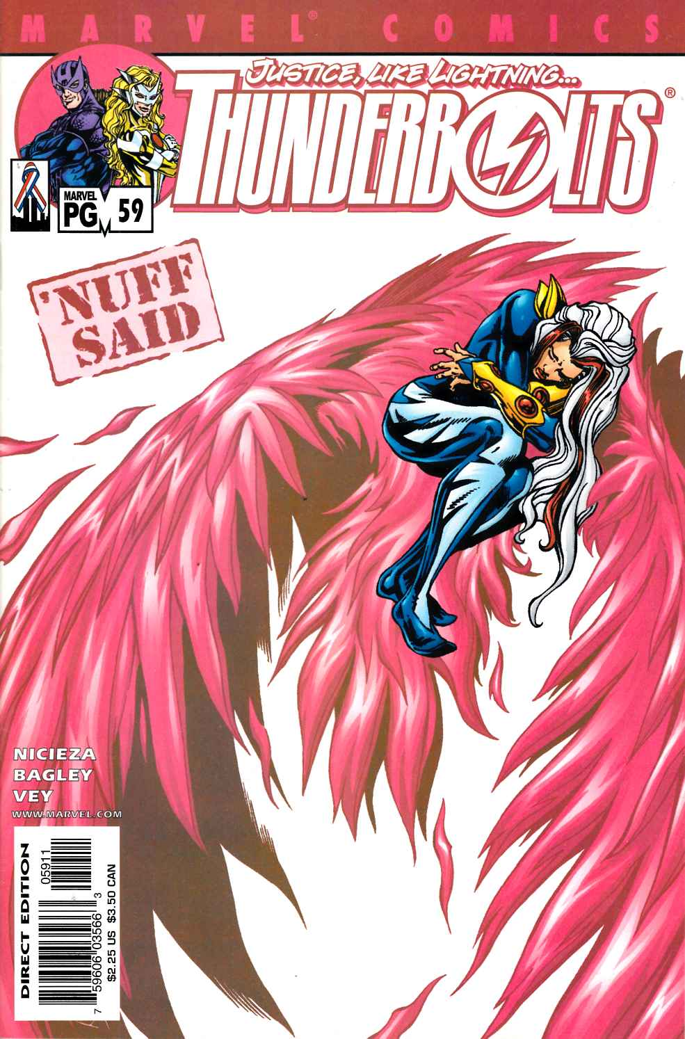 Thunderbolts #59 Very Fine (8.0) [Marvel Comic] LARGE