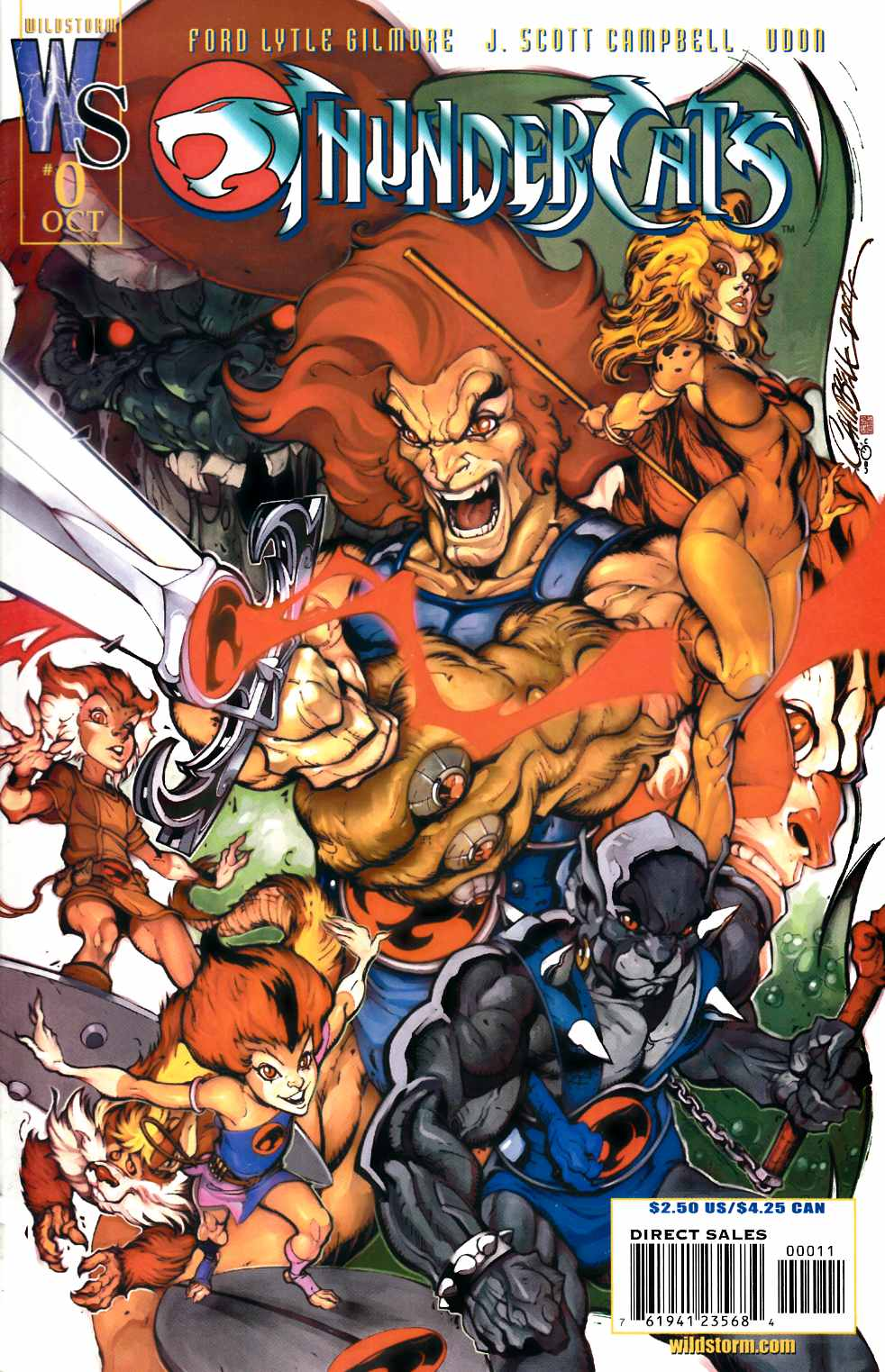 Thundercats #0 Near Mint (9.4) [DC Comic] THUMBNAIL