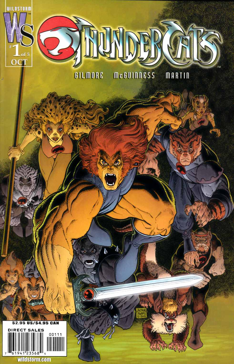 Thundercats #1 Cover B Near Mint Minus (9.2) [DC Comic] THUMBNAIL