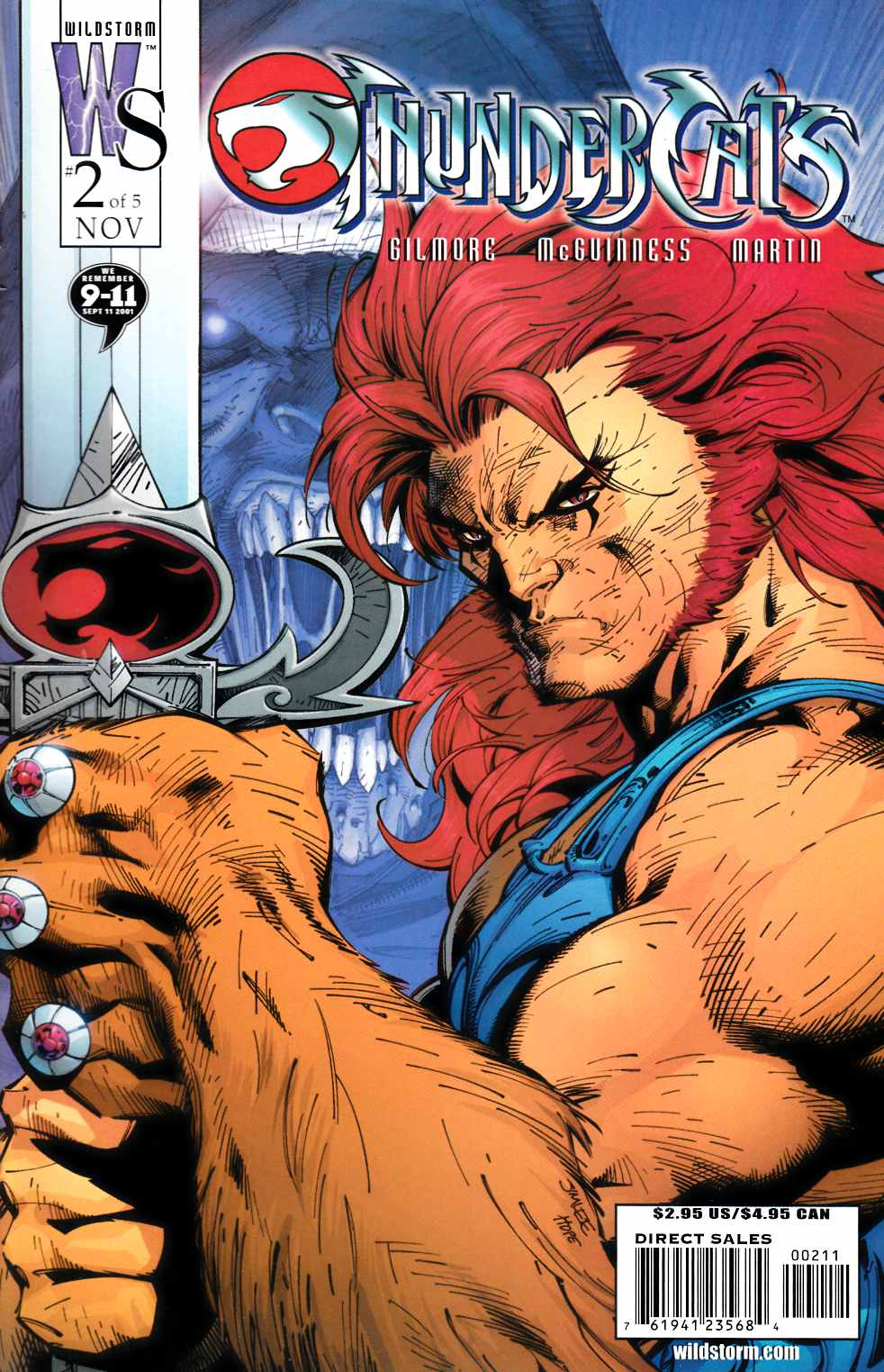 Thundercats #2 Cover B Near Mint (9.4) [DC Comic] THUMBNAIL