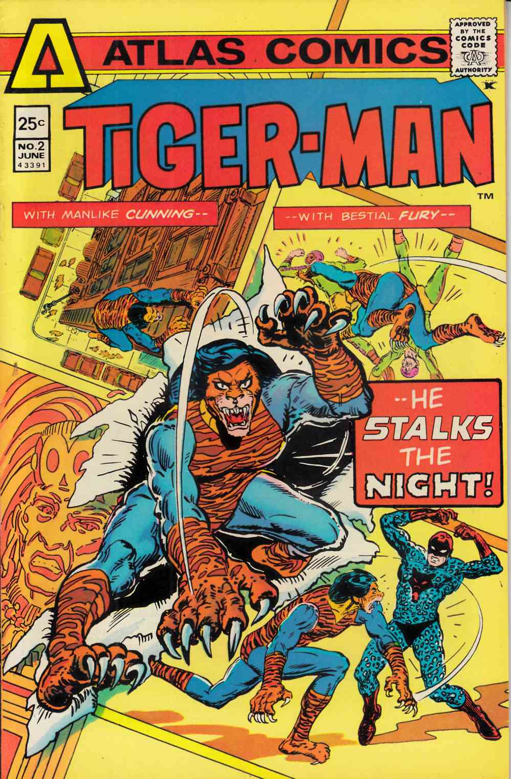 Tiger-Man #2 Very Fine/Near Mint (9.0) [Atlas Comic] THUMBNAIL