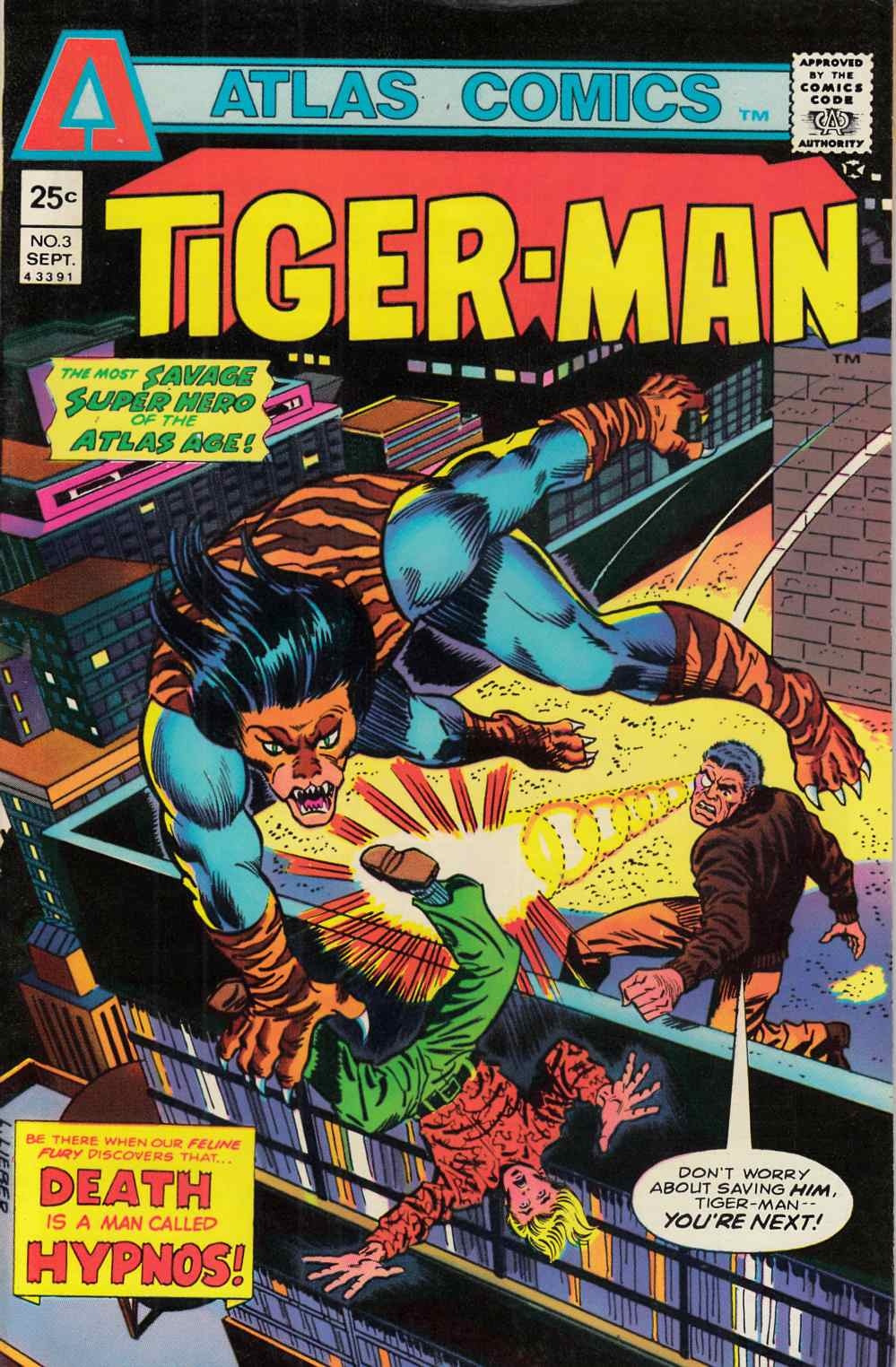Tiger-Man #3 Very Fine (8.0) [Atlas Comic] THUMBNAIL