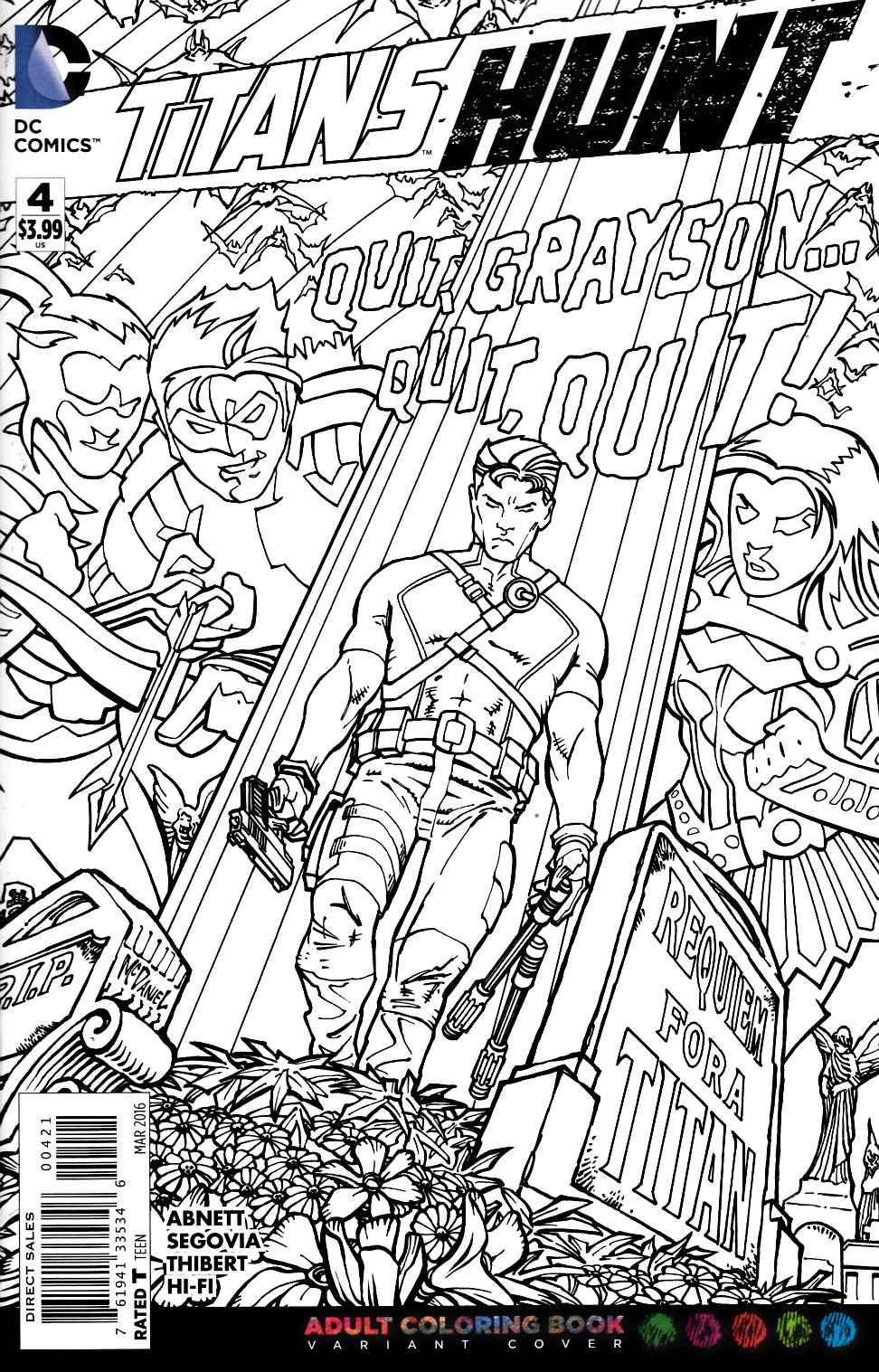 Titans Hunt #4 Adult Coloring Book Variant Edition [DC Comic] THUMBNAIL