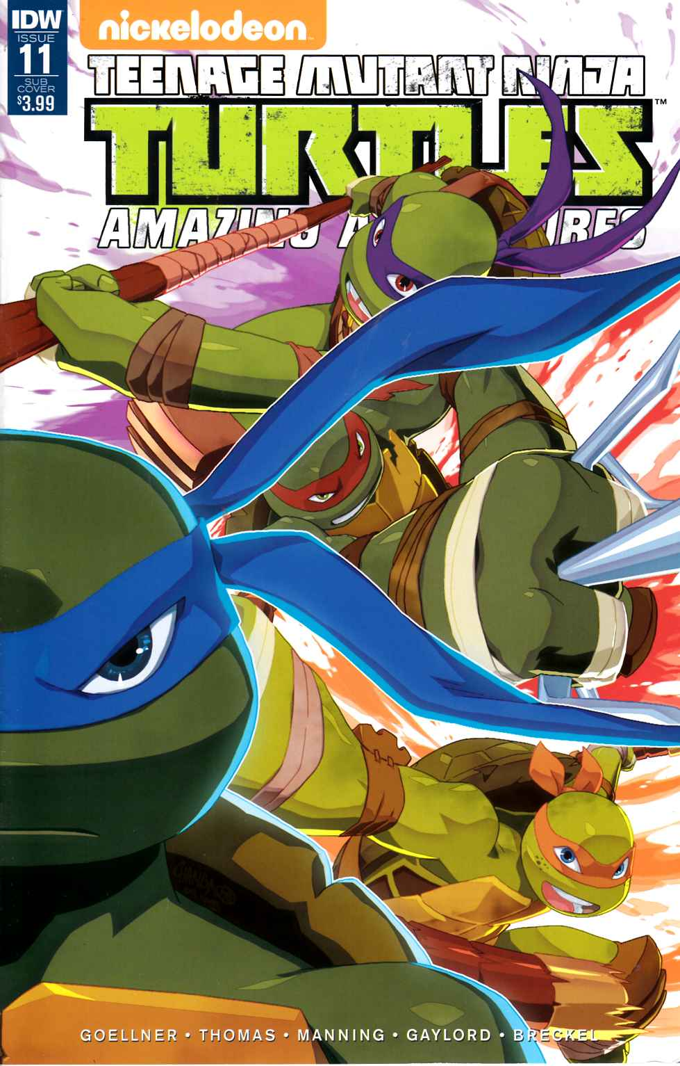 TMNT Amazing Adventures #11 Subscription Cover [IDW Comic] THUMBNAIL
