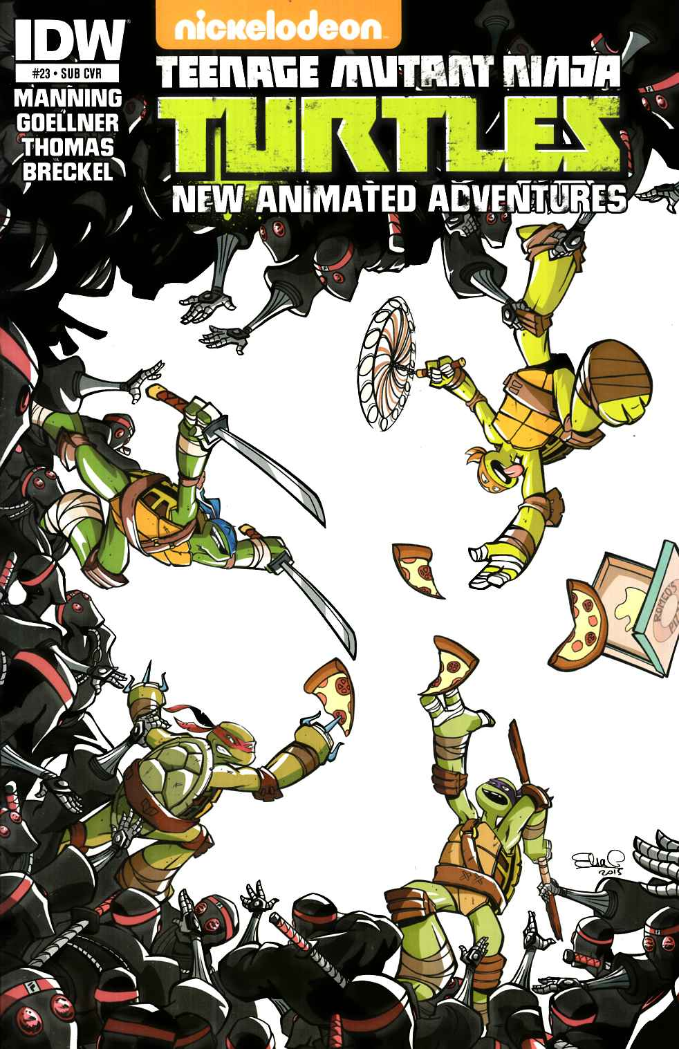 TMNT New Animated Adventures #23 Subscription Cover [IDW Comic] THUMBNAIL