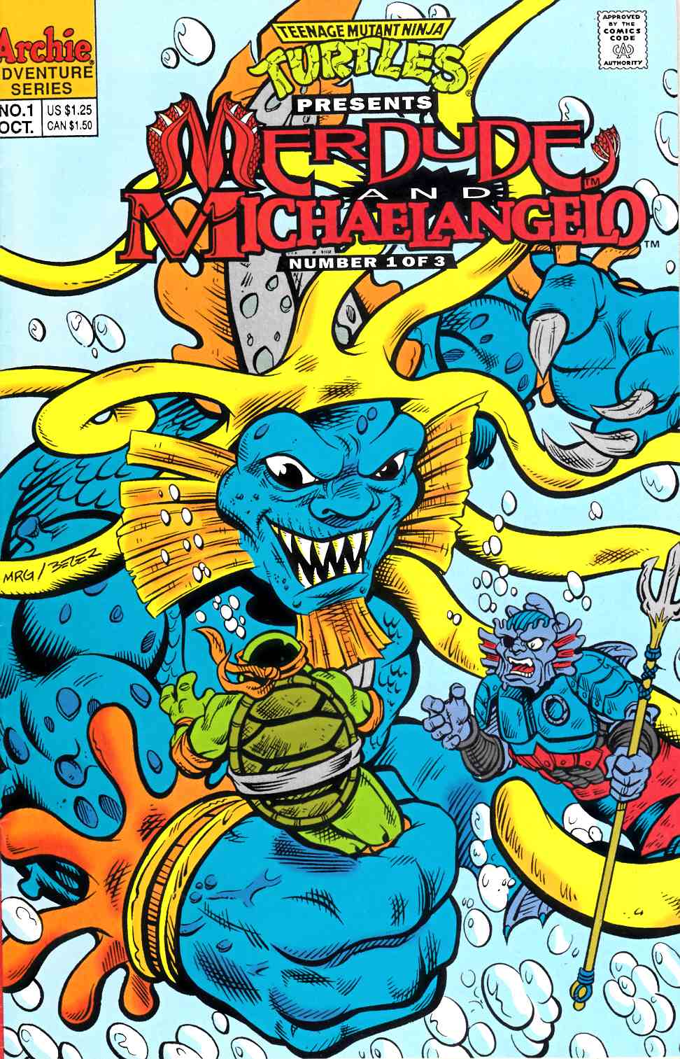 TMNT Presents Merdude and Michaelangelo #1 Fine (6.0) [Archie Comic] LARGE