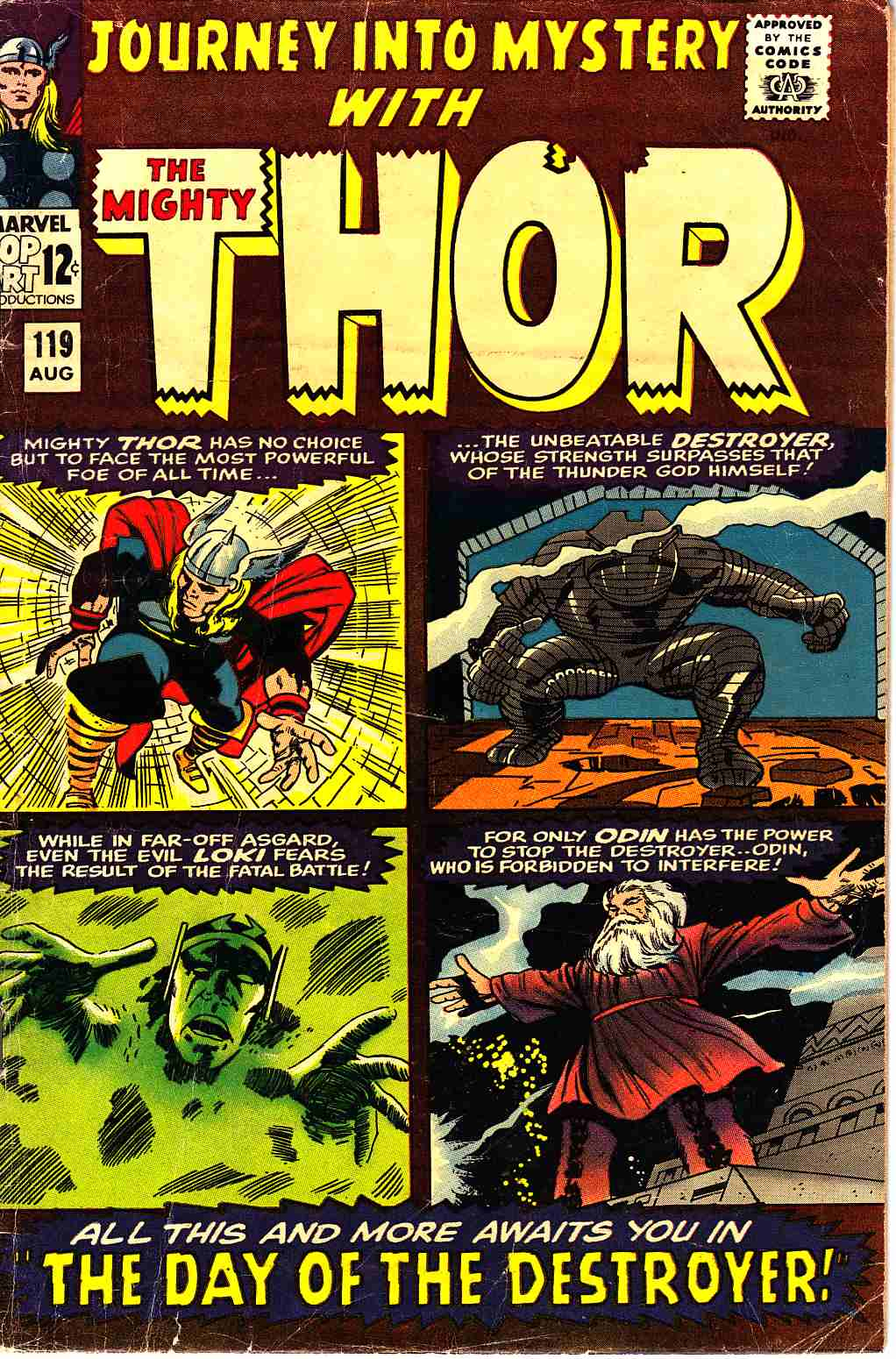 Journey Into Mystery Thor #119 Very Good (4.0) [Marvel Comic] THUMBNAIL