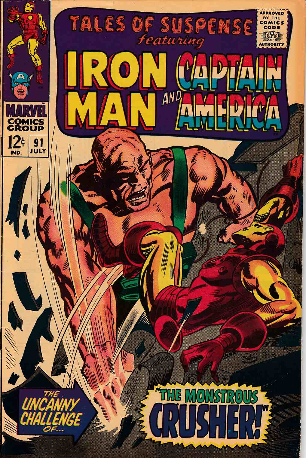 Tales of Suspense #91 Fine (6.0) [Marvel Comic] THUMBNAIL