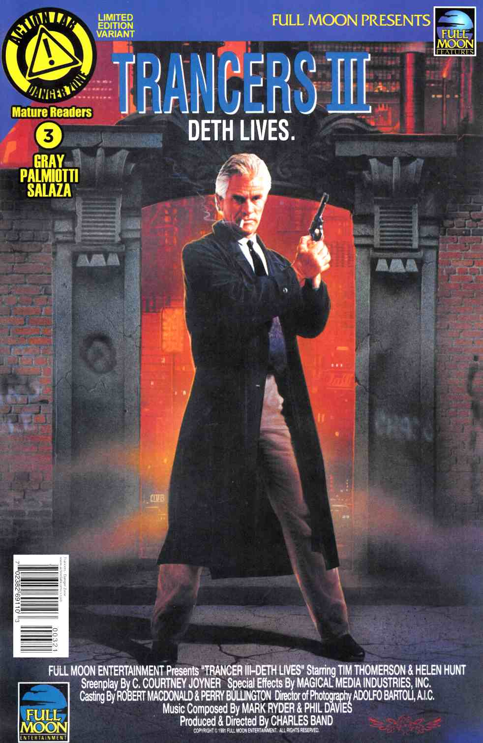 Trancers #3 Movie Poster Variant Cover [Action Lab Comic] THUMBNAIL