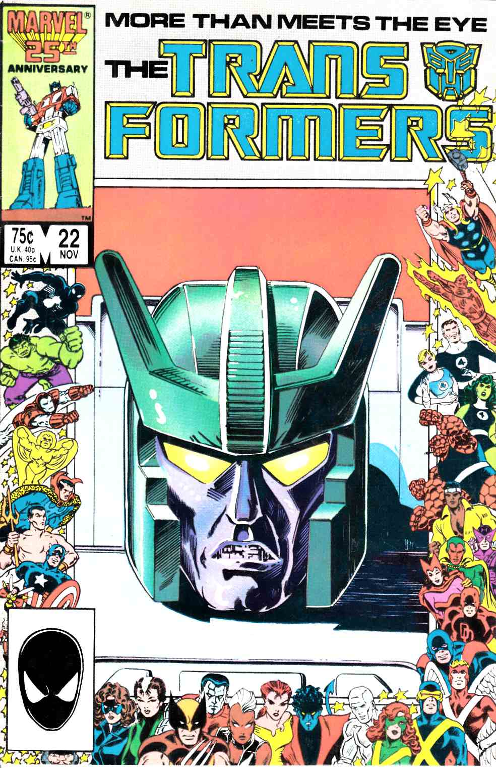 Transformers #22 Fine (6.0) [Marvel Comic] THUMBNAIL