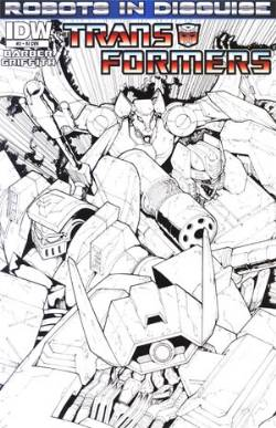 Transformers Robots In Disguise Ongoing #2 Cover RI- Andrew Griffith B&W Incentive [Comic] LARGE