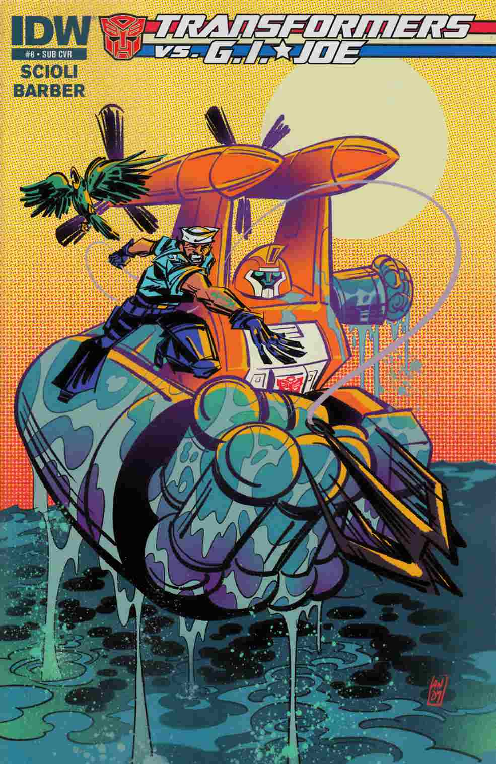 Transformers vs GI Joe #8 Subscription Cover [IDW Comic] THUMBNAIL