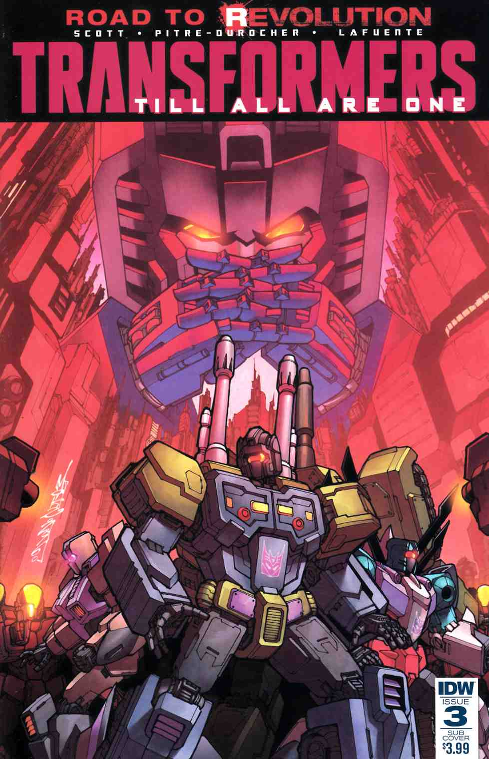 Transformers Till All Are One #3 Subscription Cover [IDW Comic] LARGE
