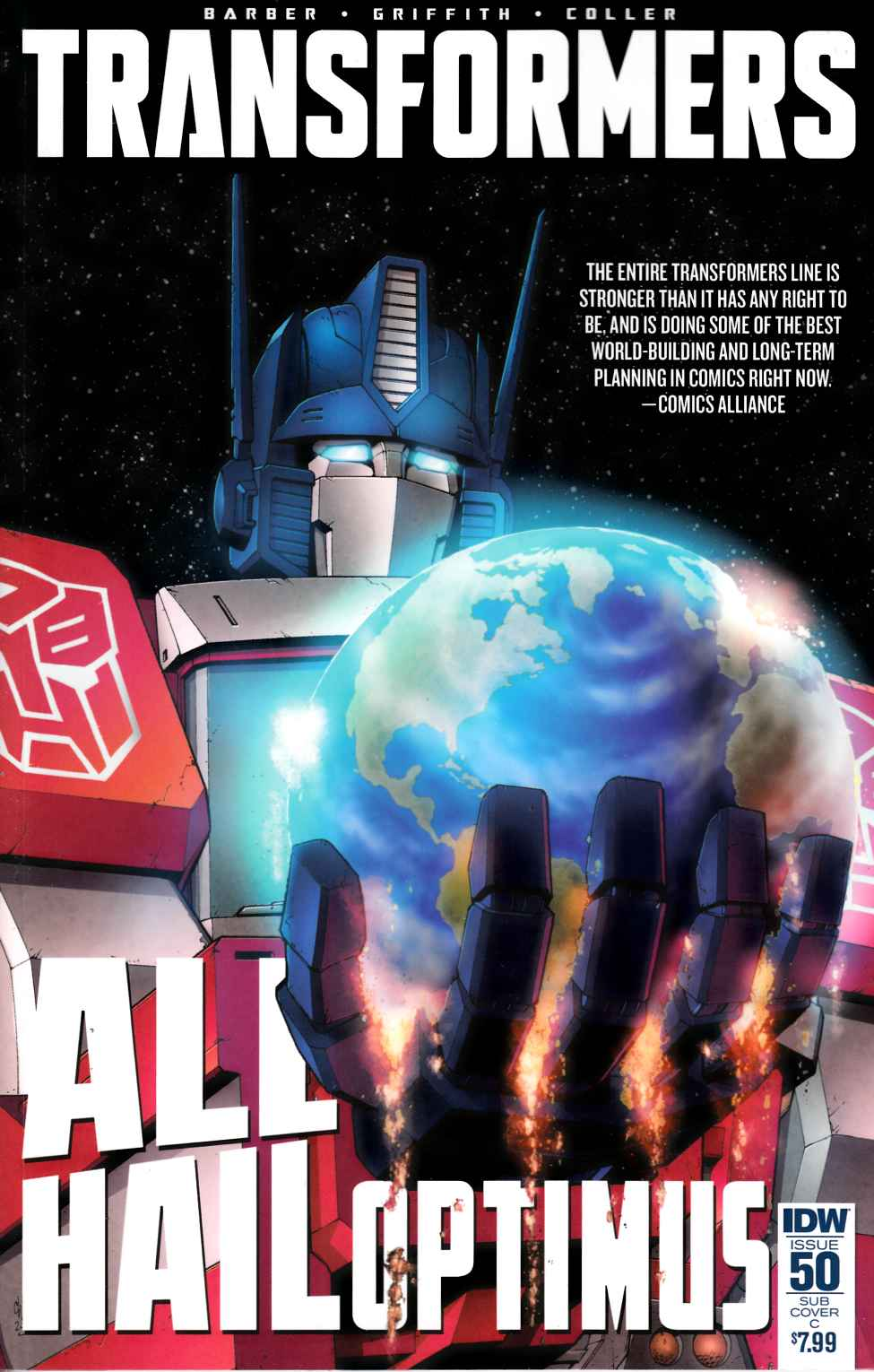 Transformers #50 Cover D- Subscription [IDW Comic] THUMBNAIL