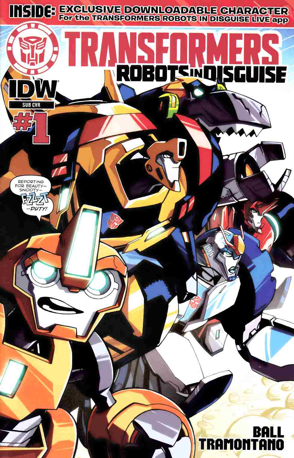 Transformers Robots In Disguise Animated #1 Subscription Cover [IDW Comic] THUMBNAIL