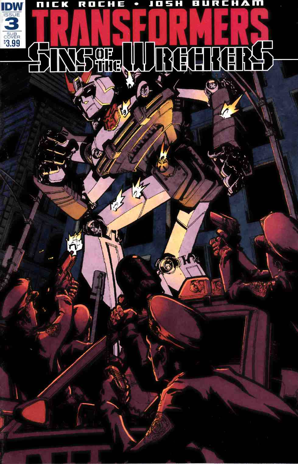 Transformers Sins of Wreckers #3 Subscrition Cover [IDW Comic] THUMBNAIL