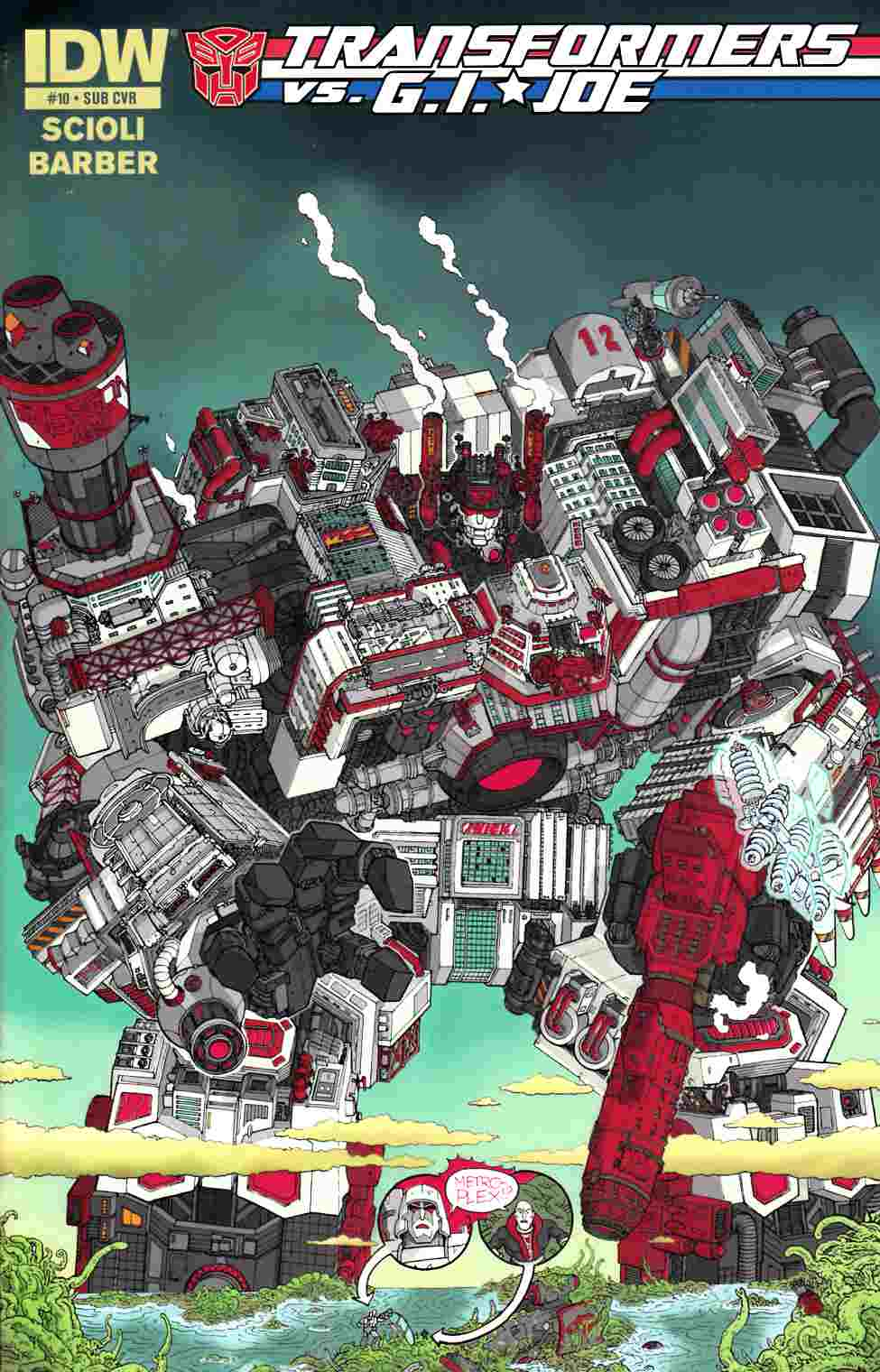 Transformers vs GI Joe #10 Subscription Cover [IDW Comic] THUMBNAIL