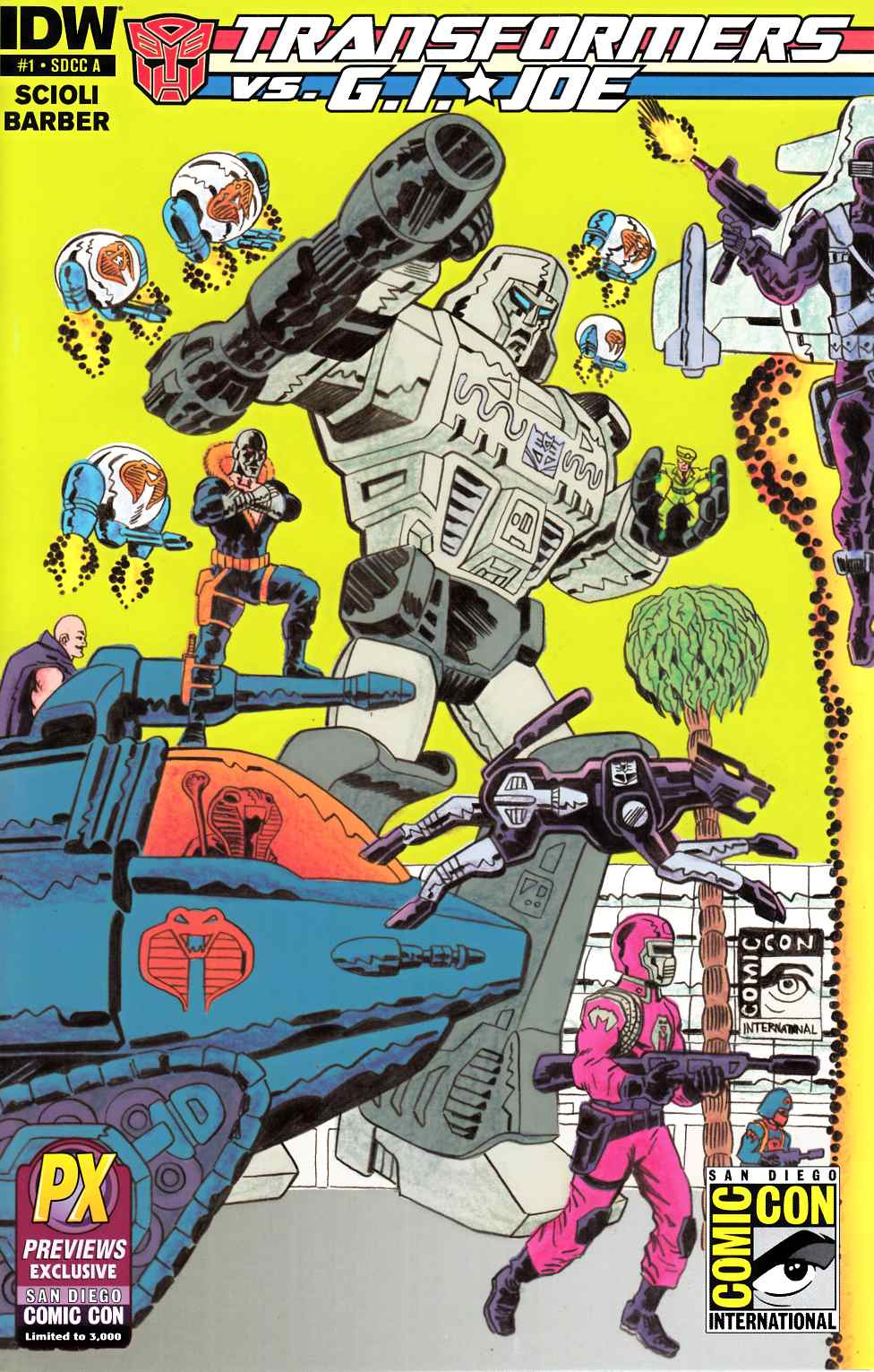 Transformers vs GI Joe #1 SDCC 2014 Exclusive Cover A [Comic] THUMBNAIL