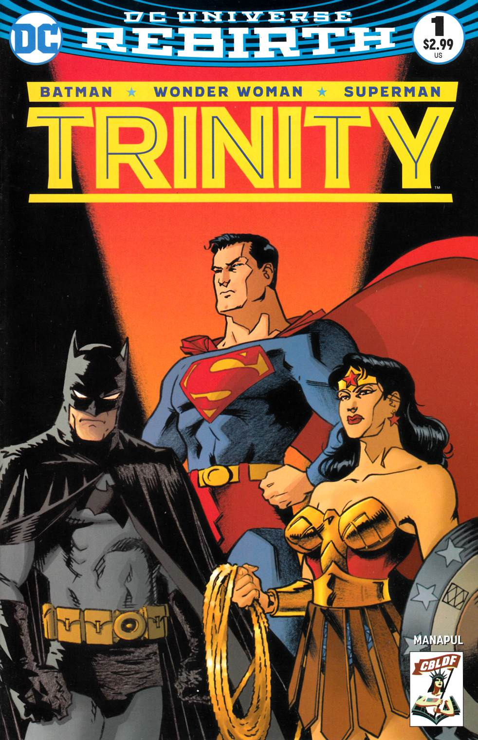 Trinity #1 CBLDF Exclusive Cover- Near Mint Minus (9.2) [DC Comic] LARGE