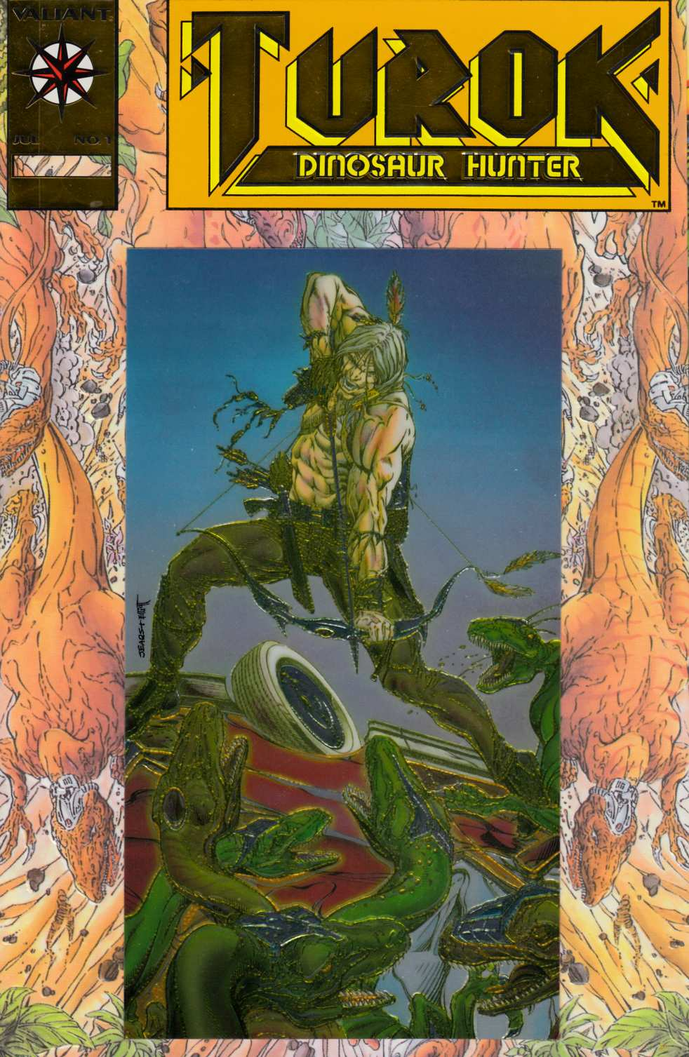 Turok Dinosaur Hunter #1 Gold Edition [Valiant Comic] THUMBNAIL