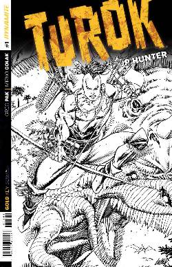 Turok Dinosaur Hunter #1 Liefeld B&W Incentive Cover [Comic] LARGE