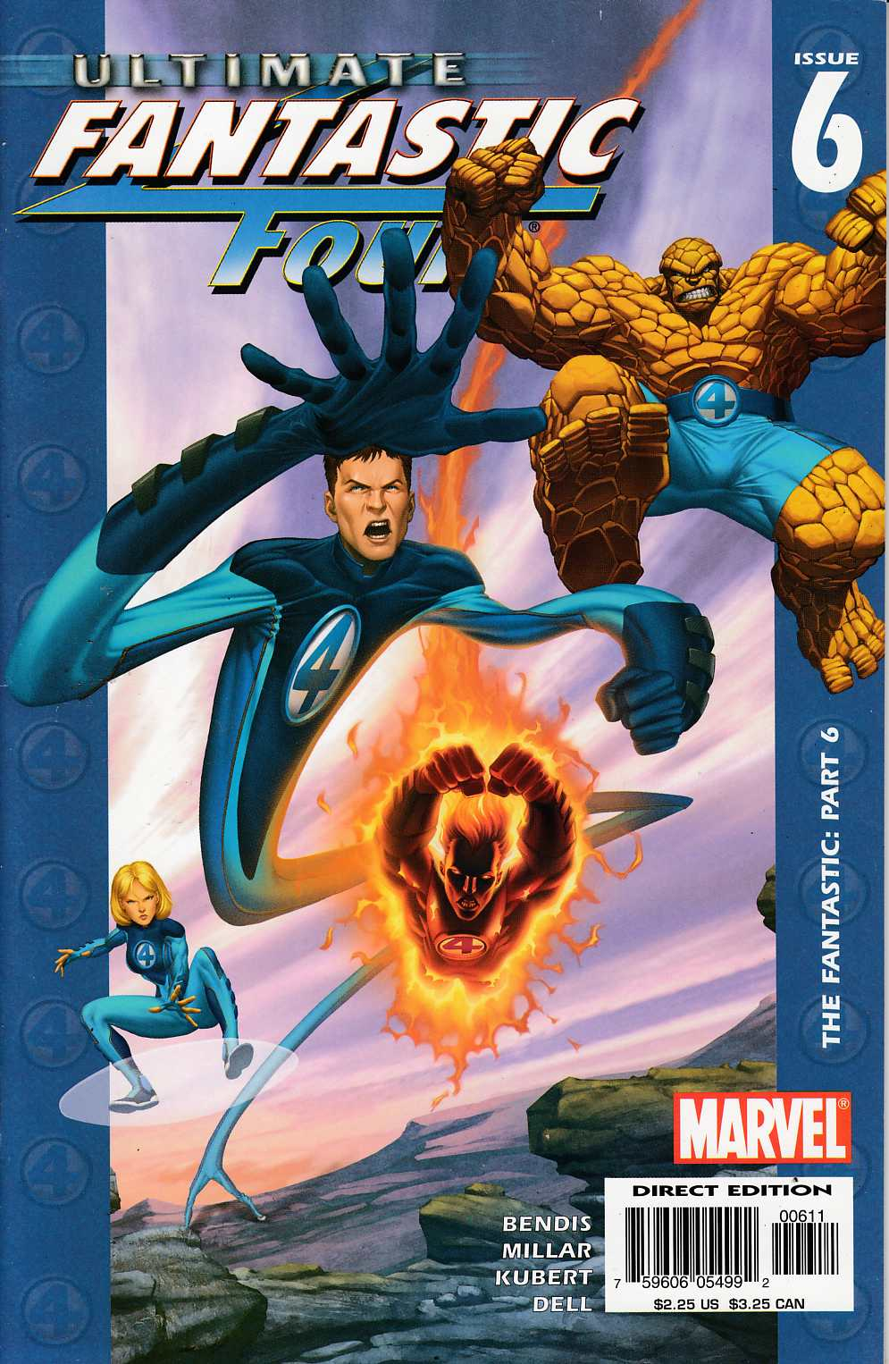 Ultimate Fantastic Four #6 Very Fine (8.0) [Marvel Comic] THUMBNAIL