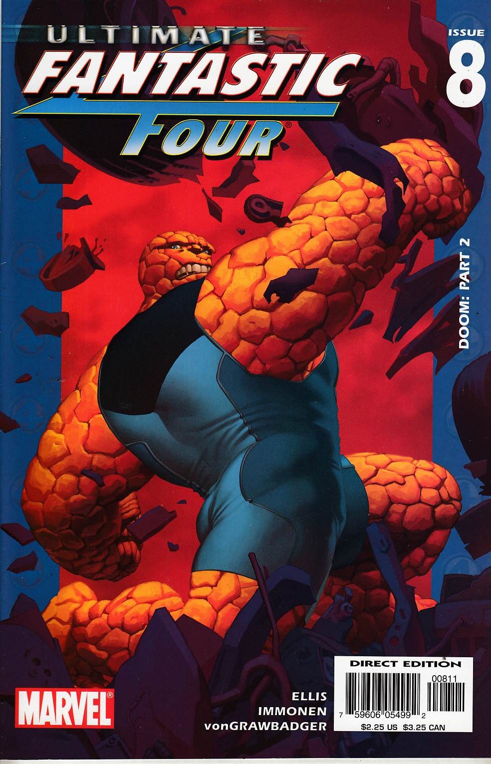 Ultimate Fantastic Four #8 Very Fine (8.0) [Marvel Comic] THUMBNAIL