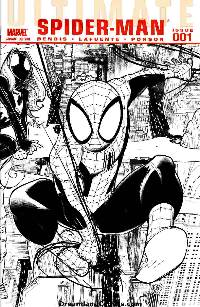 Ultimate comics: spider-man #1 (bw variant cover)_LARGE