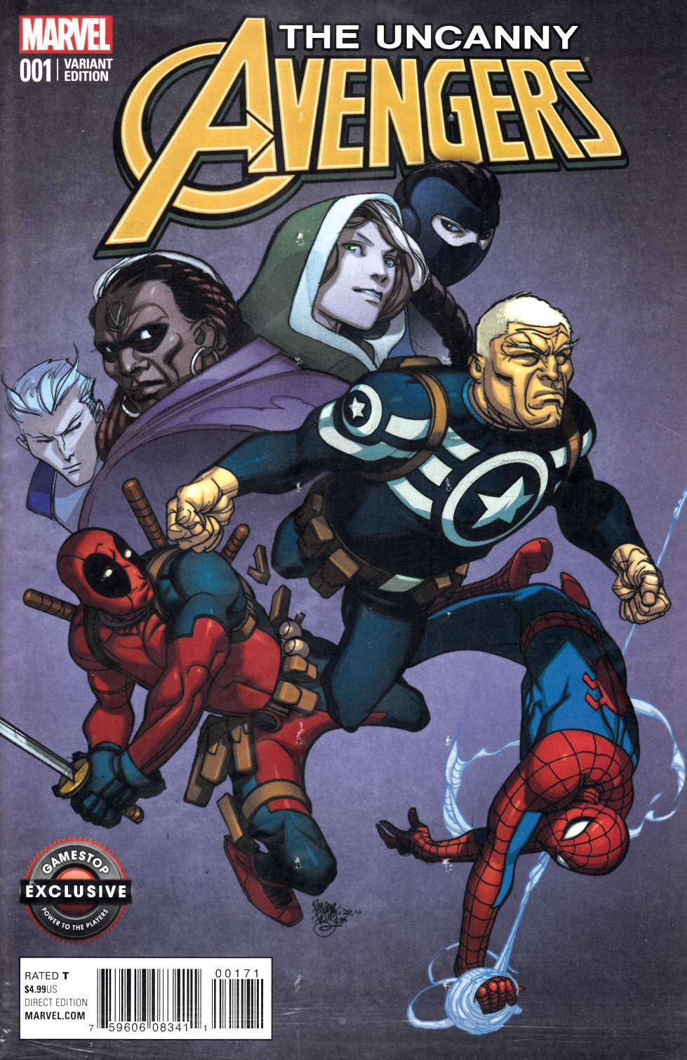 Uncanny Avengers 1 Gamestop Exclusive Cover Marvel Comic View Enlarged Image