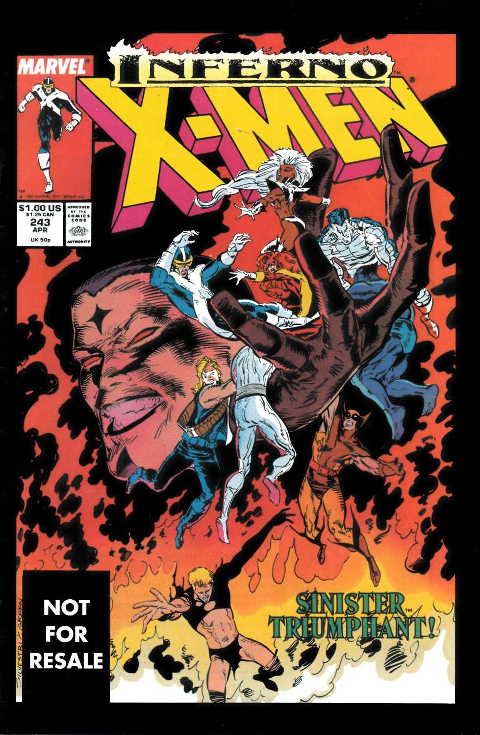 Uncanny X-Men #243 Marvel Legends Edition Fine (6.0) [Marvel Comic] THUMBNAIL