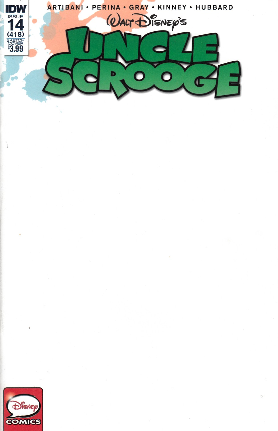 Uncle Scrooge #14 Cover RI [IDW Comic] THUMBNAIL
