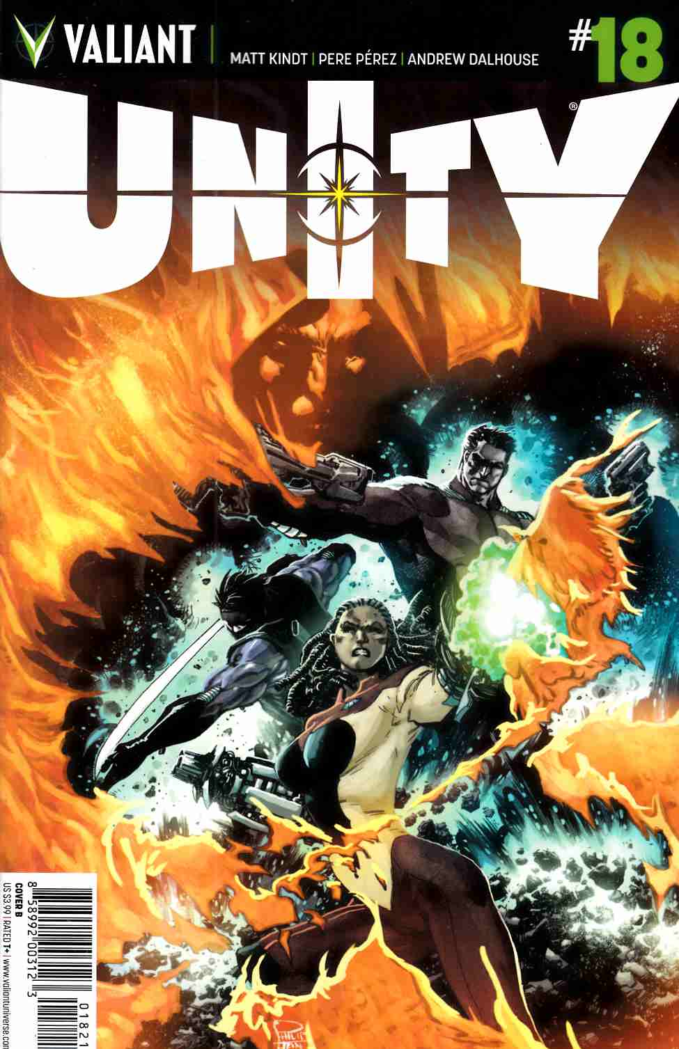 Unity #18 Cover B- Tan [Valiant Comic] THUMBNAIL