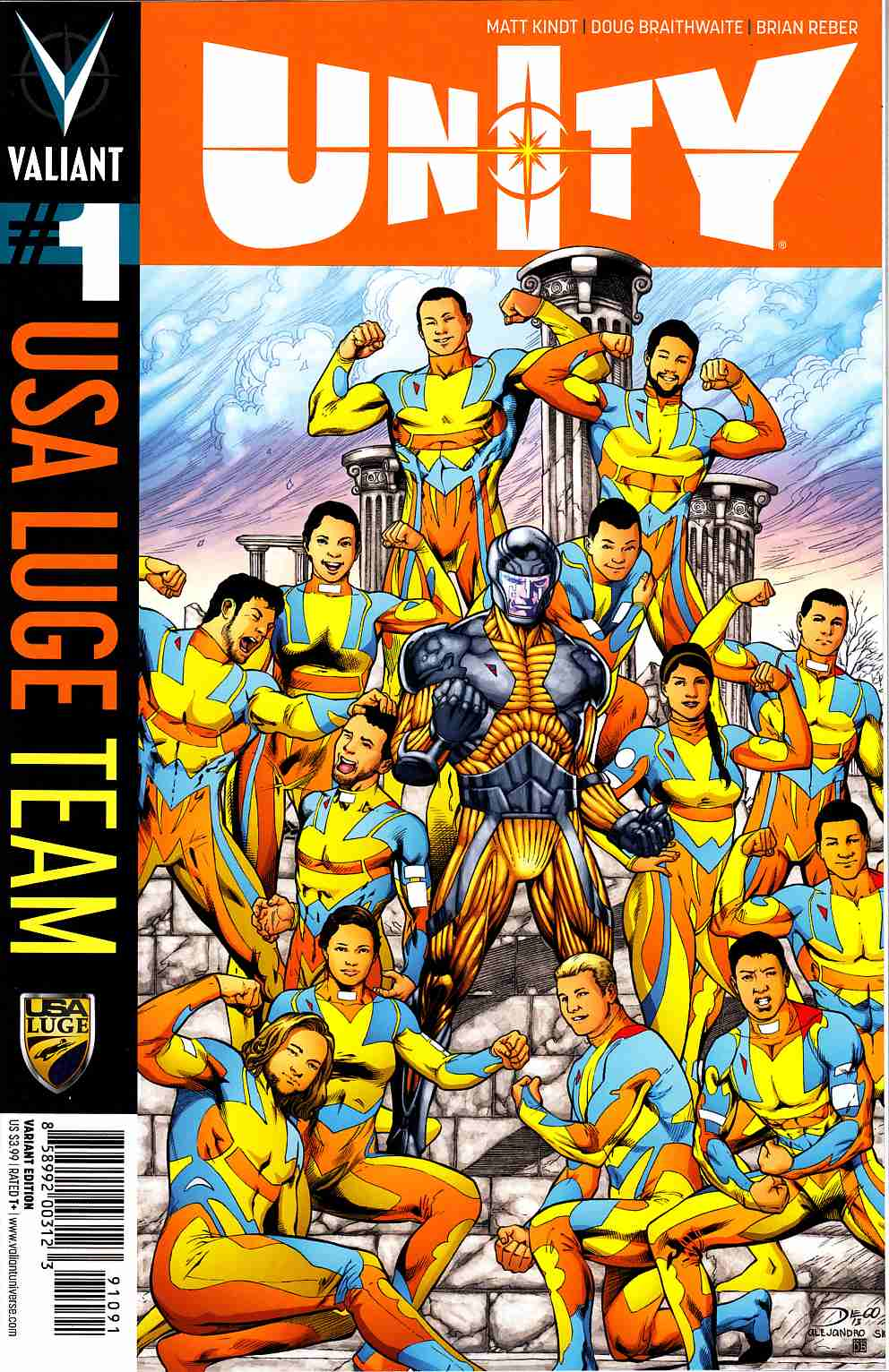 Unity #1 Cover I- Team USA Luge [Valiant Comic]