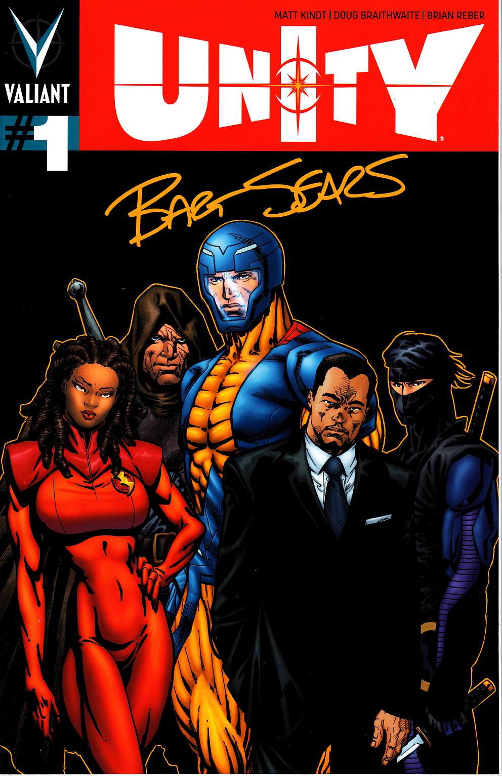 Unity #1 Cover J- Signature Series Sears [Valiant Comic]