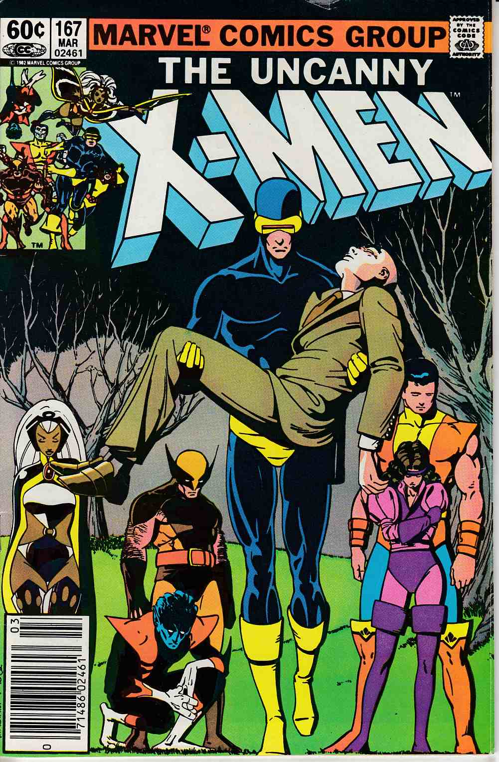 Uncanny X-Men #167 Newsstand Edition Very Good (4.0) [Marvel Comic]