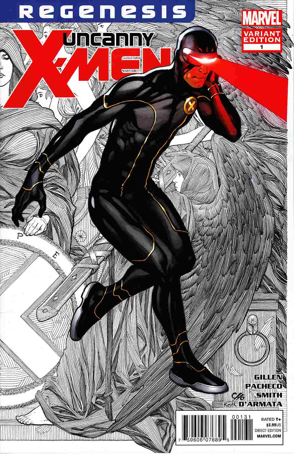Uncanny X-Men #1 Cho Variant Cover Near Mint (9.4) [Marvel Comic] THUMBNAIL