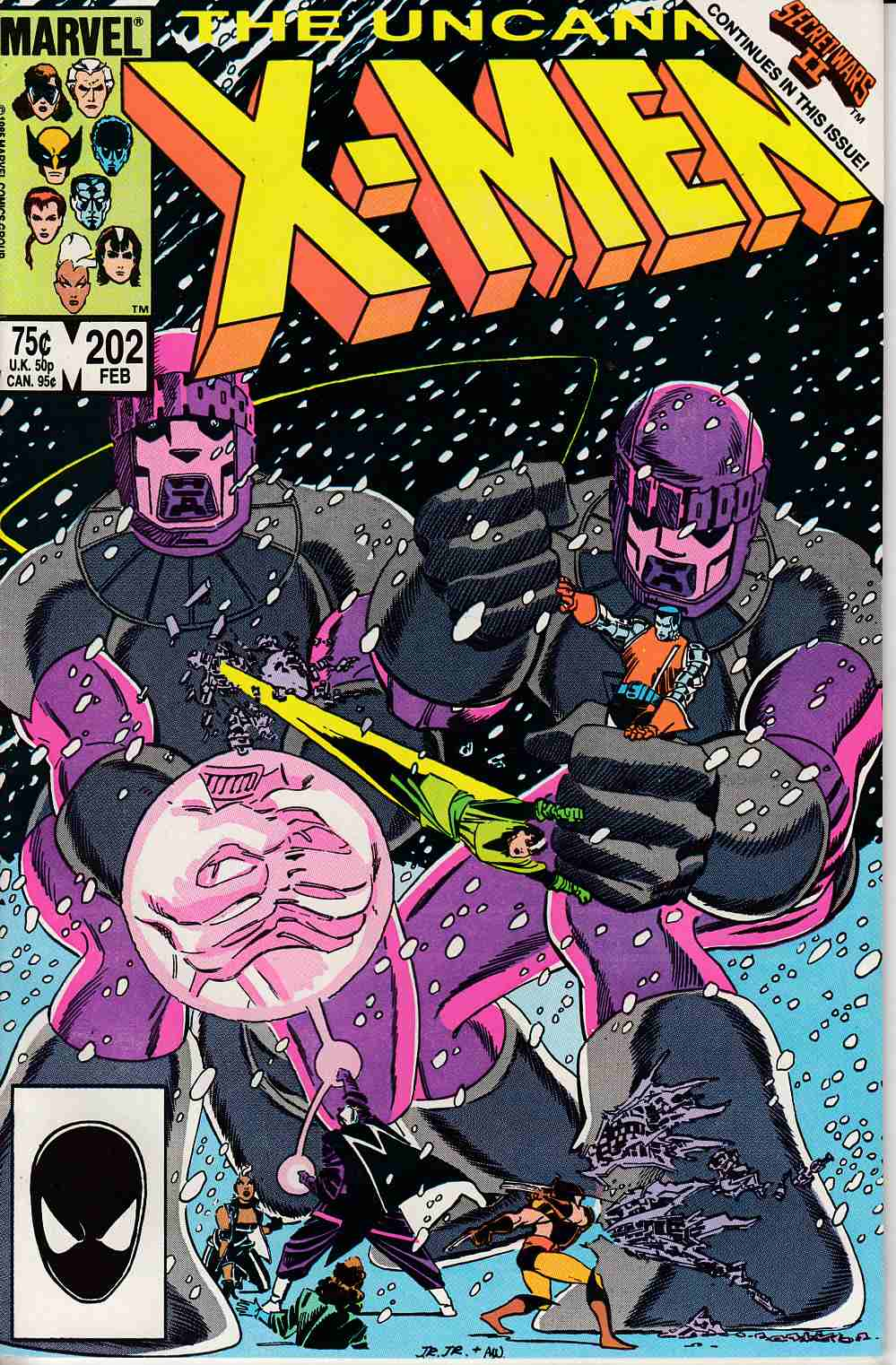 Uncanny X-Men #202 Fine (6.0) [Marvel Comic] LARGE