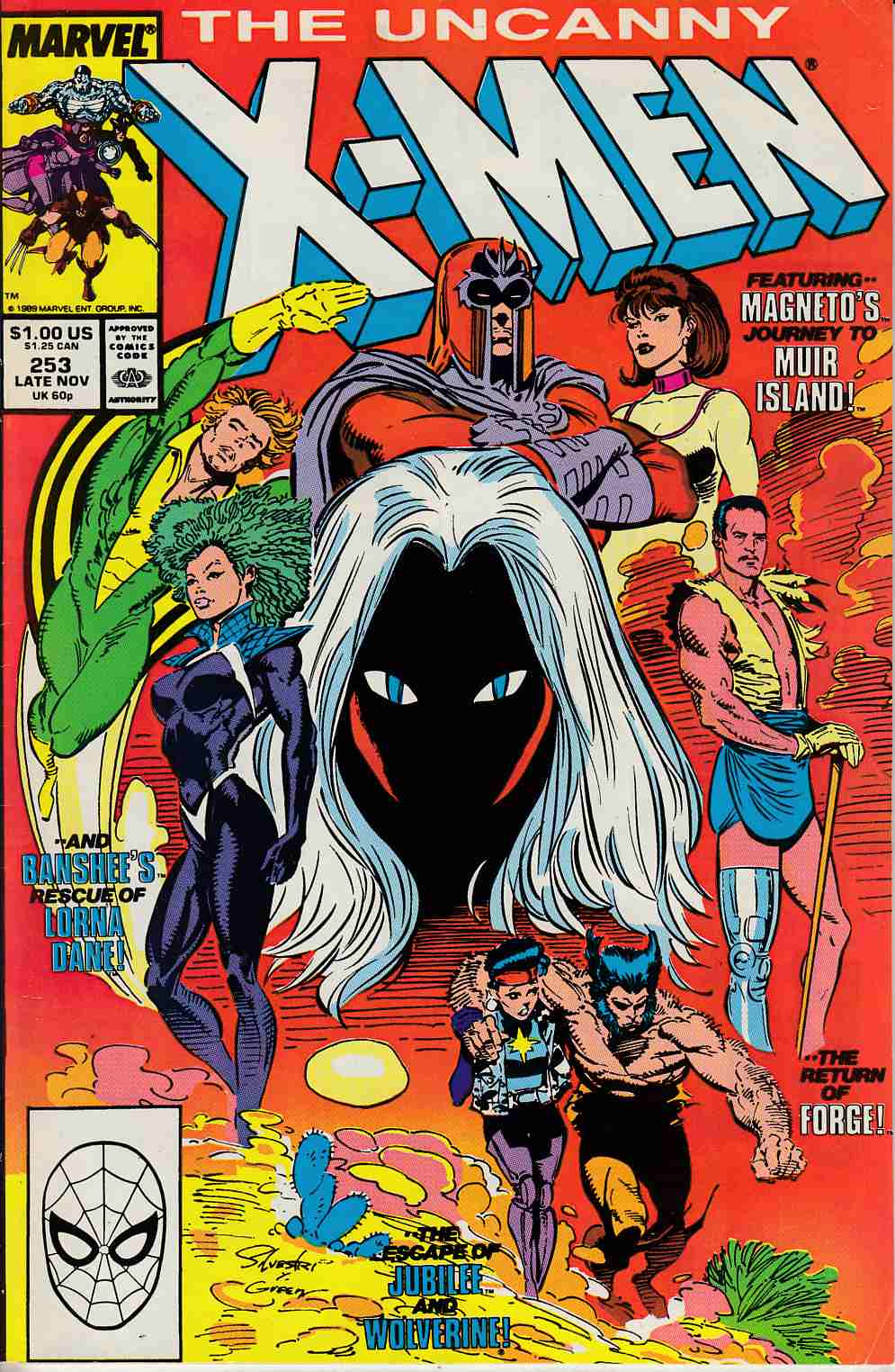 Uncanny X-Men #253 Fine/Very Fine (7.0) [Marvel Comic] LARGE