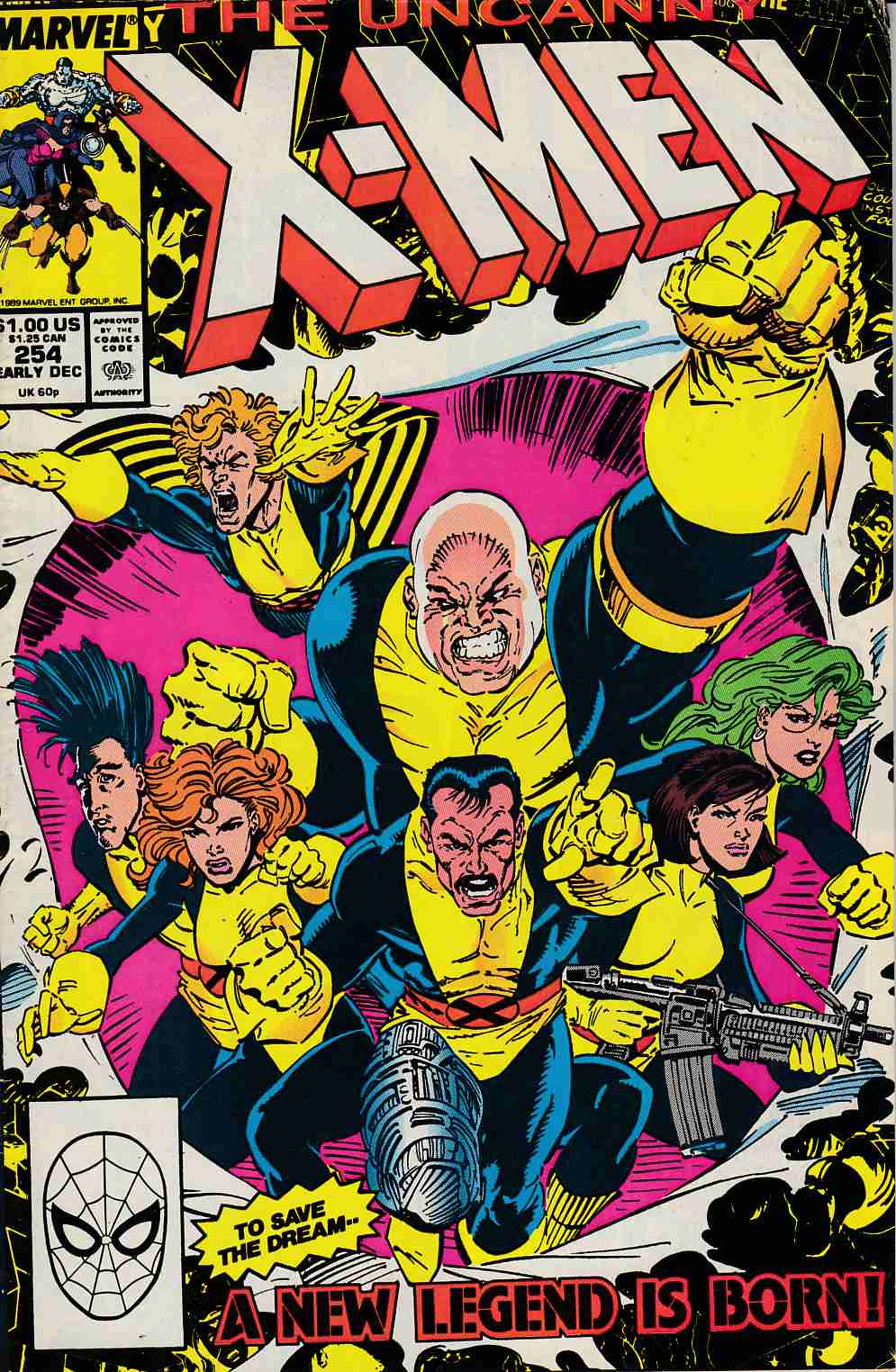 Uncanny X-Men #254 Fine (8.0) [Marvel Comic] LARGE