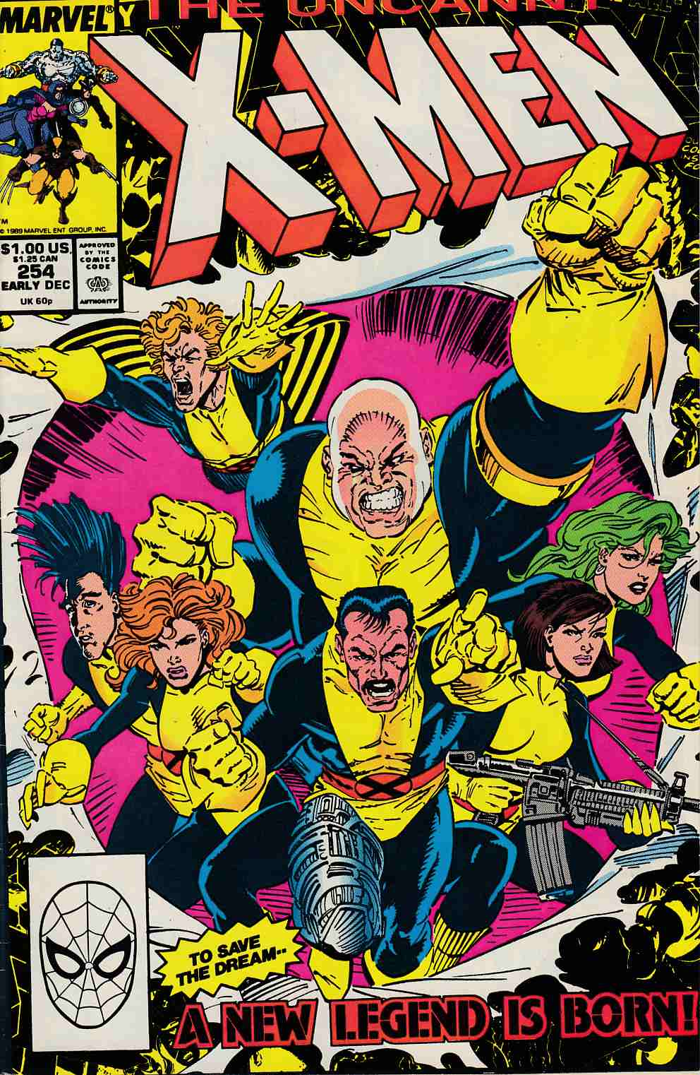 Uncanny X-Men #254 Very Fine (8.0) [Marvel Comic] LARGE