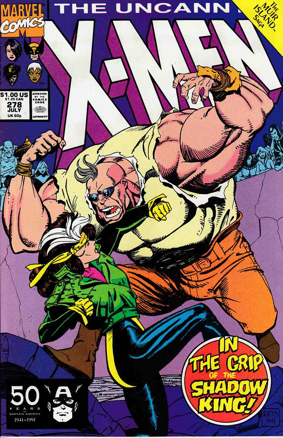 Uncanny X-Men #278 Very Fine (8.0) [Marvel Comic] LARGE